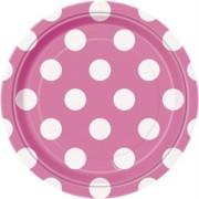 Pappersassietter 17,1cm 8p Dots Rosa
