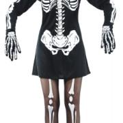 Maskeraddräkt klänning skelett vuxen