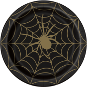 Papperstallrikar 21,9cm 8p Gold spider