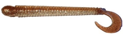 SPRO disc worm 110 5-pack brown glitter