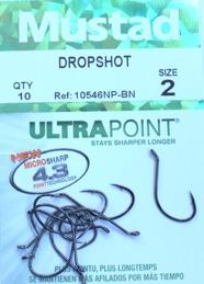MUSTAD dropshot krok stl.2 10-pack