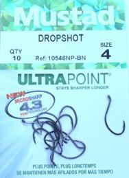 MUSTAD dropshot krok stl.4 10-pack