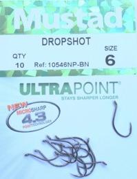MUSTAD dropshot krok stl.6 10-pack
