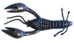 GUNKI Hourra craw 100 6-pack (black blue flake) -