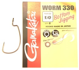 Gamakatsu offset krok 1/0 6-pack -