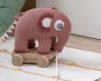 Dragdjur rosa elefant.