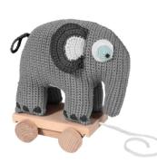 Dragdjur elefant grå.