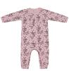 Blommig heldress i rosa med volang.