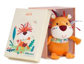 Kramdjuret Jack lejon i låda.