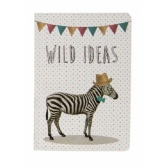 POCKET NOTEBOOK PARTY ANIMALS ZEBRA