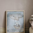 FLYING WHALE POSTER 40x50