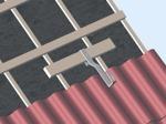 Takinfästning för betong och tegel pannor.