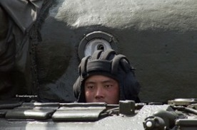 Foto från militärparaden i Nordkorea april 2012: Maria Langen
