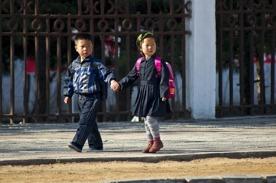 Nordkoreanska barn foto: Maria Langen