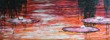 Näckrosor, akryl 150x54
