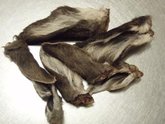 Hjortöron med päls 3-pack