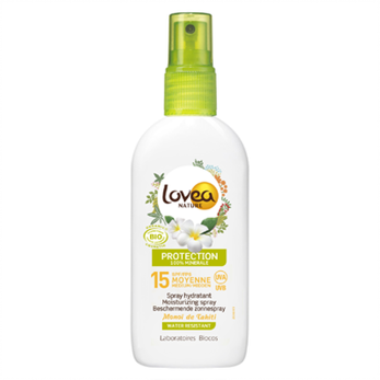 Lovea Moisturizing Sunscreen Spray SPF 15, 125 ml -