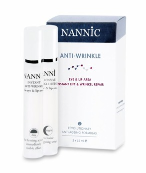 Nannic  Eye & Lip Instant Anti-wrinkle repair 2x15ml - Eye & Lip Instant Anti-wrinkle repair