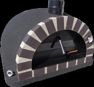 Forno Pizza Deluxe Premium - Pizzaugn | Vedugn | Stenugn - 100x100 cm svart - Deluxe Pizza