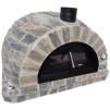 Forno Pizza Stone Premium - Pizzaugn | Vedugn | Stenugn - 120x120 cm grå  - Stone Pizza
