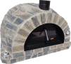 Forno Pizza Stone Premium Plus - Pizzaugn | Vedugn | Stenugn - 120x120 cm grå - Plus Stone Pizza