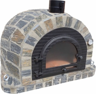 Forno Traditional Stone Premium Plus - Pizzaugn | Vedugn | Stenugn - 100x100 cm grå - Plus Stone Traditional