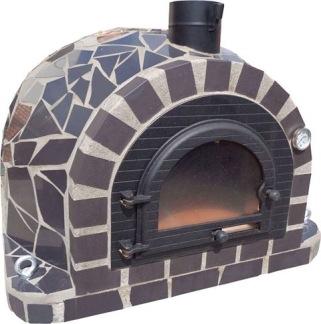 Forno Traditional Mosaic Premium - Pizzaugn | Vedugn | Stenugn - 100x100 cm svart - Mosaic Traditional