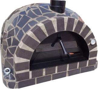 Forno Pizza Mosaic - Pizzaugn | Vedugn | Stenugn - 100x100 cm svart - Forno Pizza Mosaic