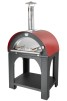Pulcinella - Clementi - Pulcinella ved - 80x100 rött målat plåttak