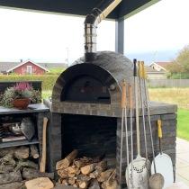 Forno Pizza Stone hörnlösning 120x120cm, vedugn / stenugn / pizzaugn