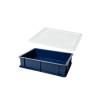 Deglåda / Degback 40x30 cm med lock - Deglåda blå 40x30 cm med lock
