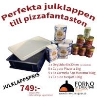 Pizzakit - Deglåda, pizzamjöl, torrjäst och San Marzano-tomat