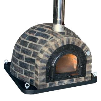 Forno Traditional Black Rustic Premium Plus - Pizzaugn   Vedugn   Stenugn - 100x100 cm - Plus Black Rustic Traditional Plus