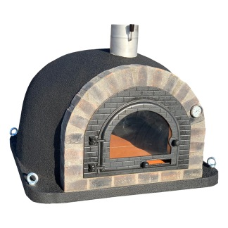 Forno Traditional Deluxe Premium - Pizzaugn | Vedugn | Stenugn - 100x100 cm svart - Deluxe Traditional