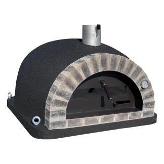 Forno Pizza Deluxe Premium Plus - Pizzaugn | Vedugn | Stenugn - 100x100 cm svart - Plus Deluxe Pizza