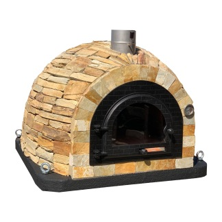 Forno Traditional Vegas Premium Plus -Pizzaugn | Vedugn | Stenugn - 100x100 cm gul - Plus Forno Vegas Traditional