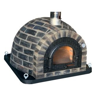 Forno Traditional Black Rustic - Pizzaugn | Vedugn | Stenugn - 100x100 cm - Forno Traditional Black Rustic
