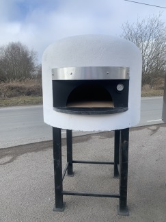 Napolitansk Pizzaugn Konsument - 60cm - Putsad vit - Napolitansk pizzaugn