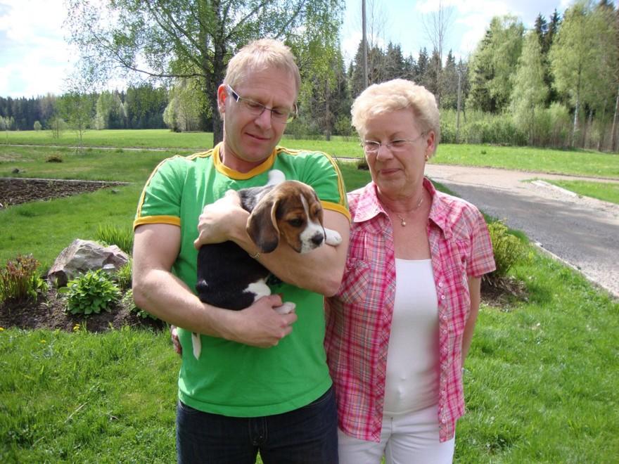 """Klocksberg's Amber med ägare Janne och """"farmor"""", Kungsör"""