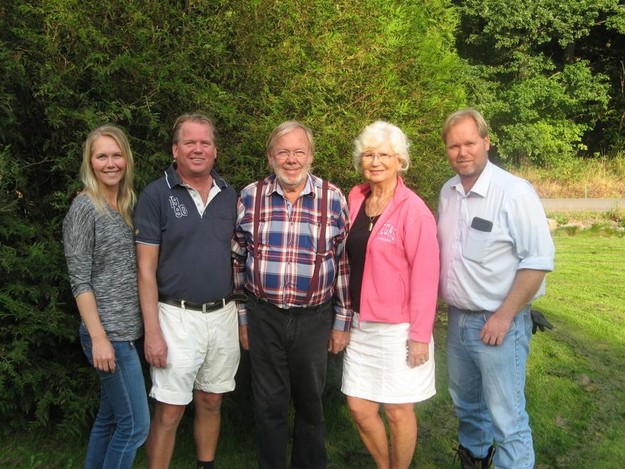 Familjen Nilsson, grundare av Kuskatorpet. Ann, Ola, Kurt-Arne, Gunnel och Per