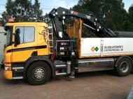 Kranbilarna används till utkörning av material men även transport och anläggning.