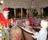 Tomtebesök - en 'riktig' tomte - uppskattat av de allra yngsta