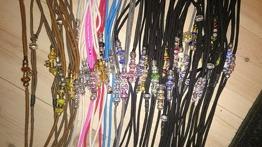 Utställningskoppel - Halvstryp med pärlor