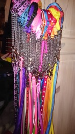 Halsband med koppel -