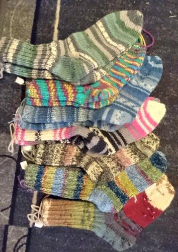 Handstickade sockor i ull från 200:-
