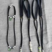 Halsband och armband i set eller med matchande utställningskoppel