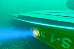 Båten Sverigebåten S1 som sjönk utanför Sandhamn år 2015
