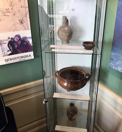 Besök på Dalarö museum mellan dyk