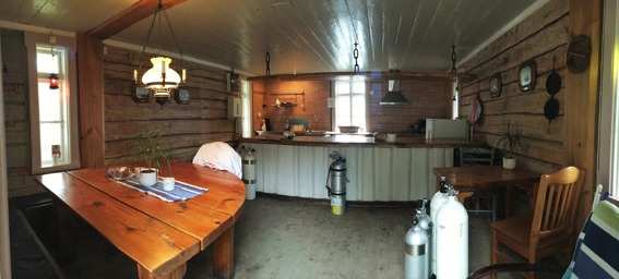 Kitchen / Storage for diving equipment