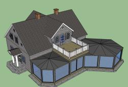 Ritad altan i 3D vy ovanifrån